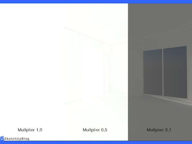 Cara setting Reinhard Color Mapping vray sketchup 2.0 - Multiplier