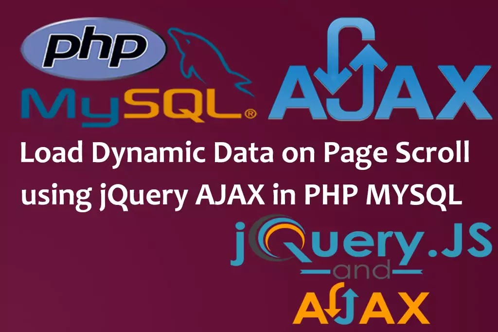 Load Dynamic Data on Page Scroll using jquery AJAX in PHP MYSQL,Data Load While Page Scroll,Load Data Automatically on Page Scroll,jQuery load more data on scroll