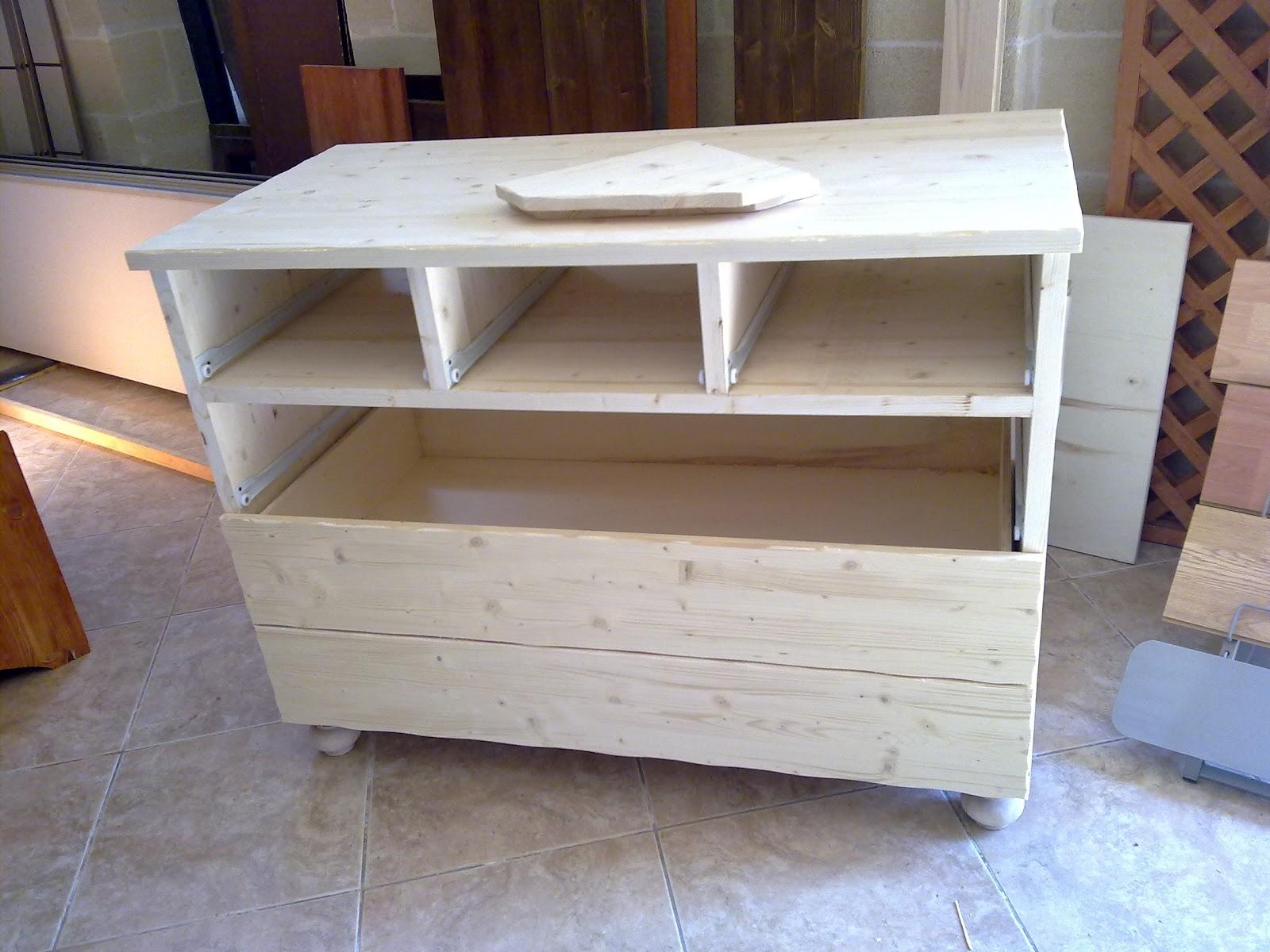 Fai da te hobby legno cassettiera for Cucina giocattolo fai da te