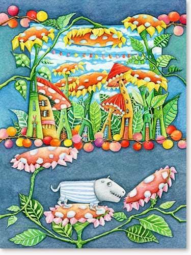 Kinderzimmer Bild: Liebes Blumen Fresserchen