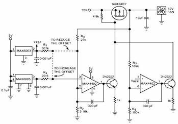 Continuous-Linear Fan Control Voltage Circuit Diagram