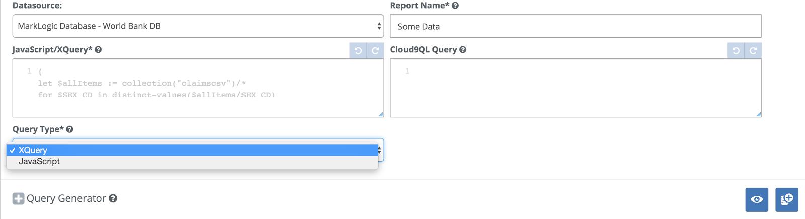 JavaScript Query support for MarkLogic + MarkLogic World