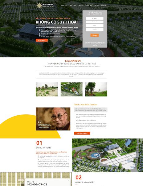 Template blogspot bất động sản landing Sala Garden - Blogspotdep.com