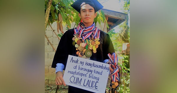 son of kasambahay and tanod graduates cum laude