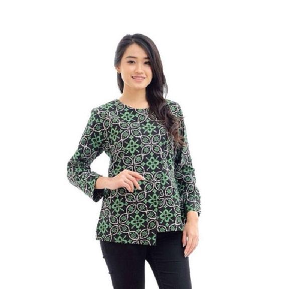 Desain Cantik Model Baju Batik Atasan Wanita Lengan Panjang