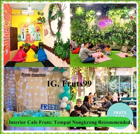 Interior Cafe Fruts: Tempat Nongkrong Recommended di Tahun 2020