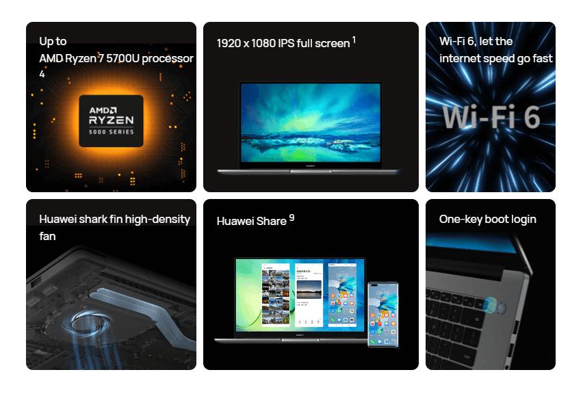Huawei MateBook D-series features