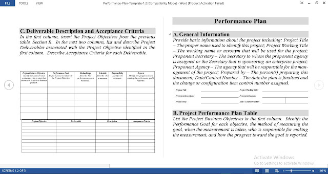 Performance Management Plan Template for Word