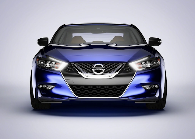 2016 Nissan Maxima blue front