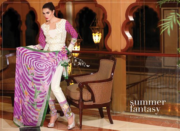 Nadia Hussain Eid New White & Purple Color suits