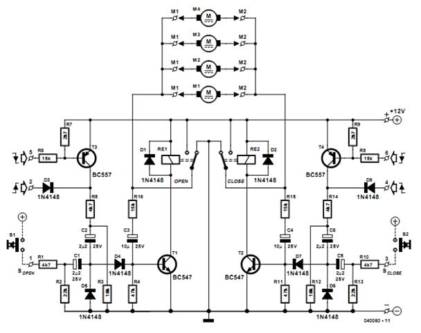 car central locking system circuit diagram
