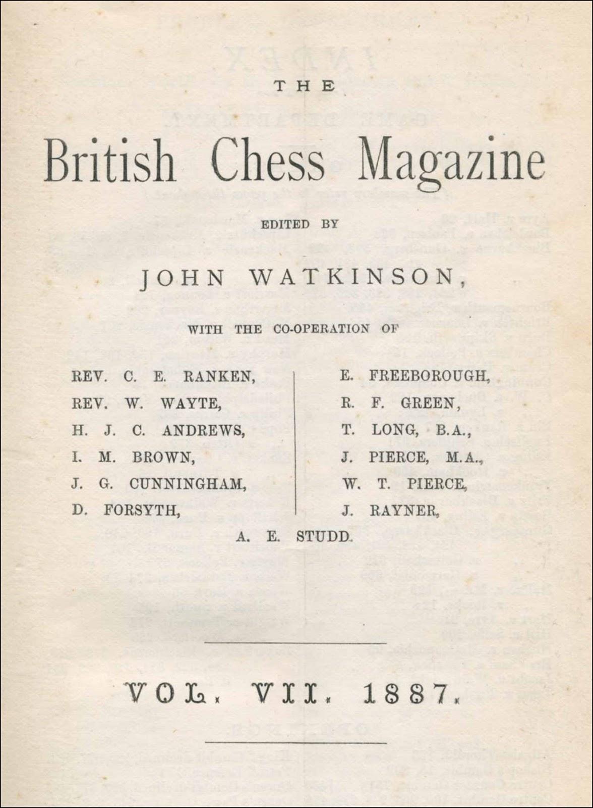 Chess Book Chats: Thomas Long B.A., T.C.D.