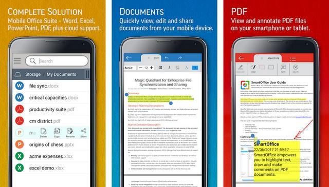 أفضل تطبيق Office للكتابة والتحرير للاندرويد
