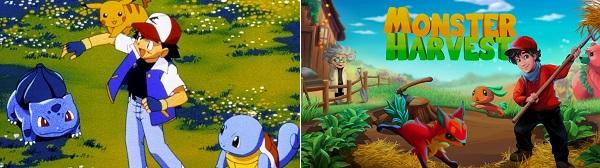 Comparison of Pokemon vs Monster Harvest