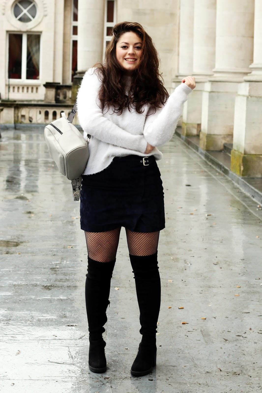 jupe mangooutlet bas résille belgique liège blogueuse