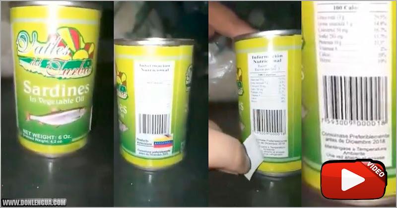 VENENO | Lata de sardinas de los CLAP viene vencida y no es apta para consumo humano
