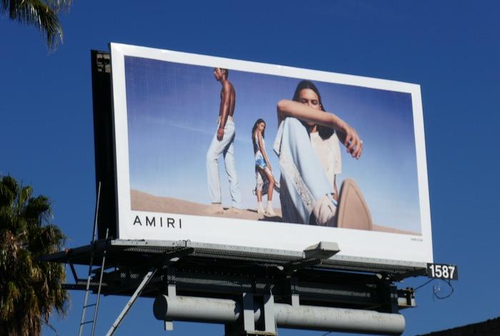 Amiri 2020 fashion billboard