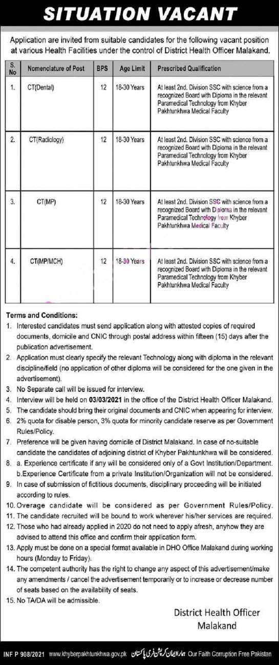 Latest District Health Office  Jobs  Health Department  2021