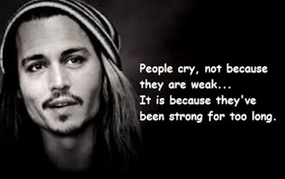 """Johnny Depp Quotes About People Cry"""