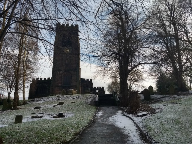 St Helen Witton church in the snow