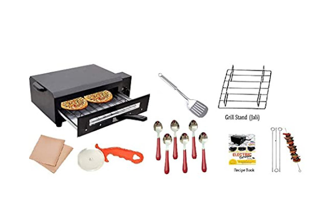 Pizza maker machine price in India - Best pizza oven machine - Top electric automatic pizza making machine for restaurant, shop, home, commercial use