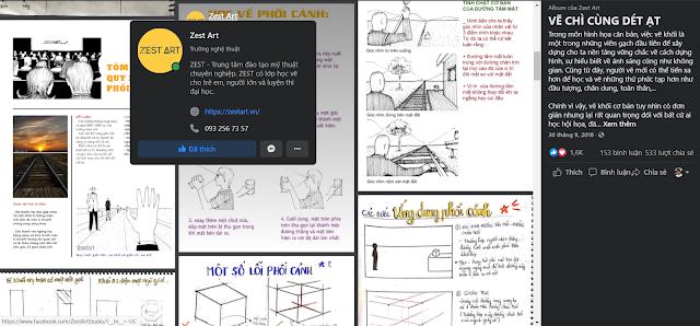 Chuyên mục hướng dẫn tự học vẽ chì cùng zest art trên facebook