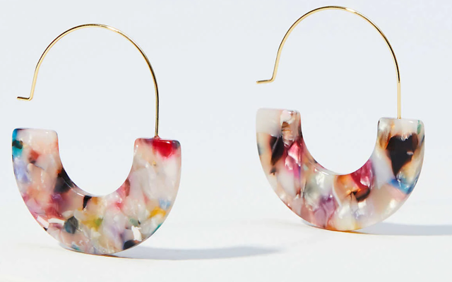 Loft Marbleized Resin Earrings