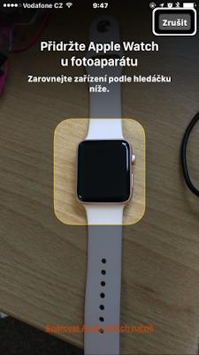 párování hodinek s mobilem