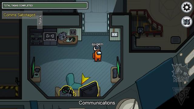 コミュニケーションサボタージュの場所に矢印が表示されている画像