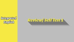 Review/ Self Test 1