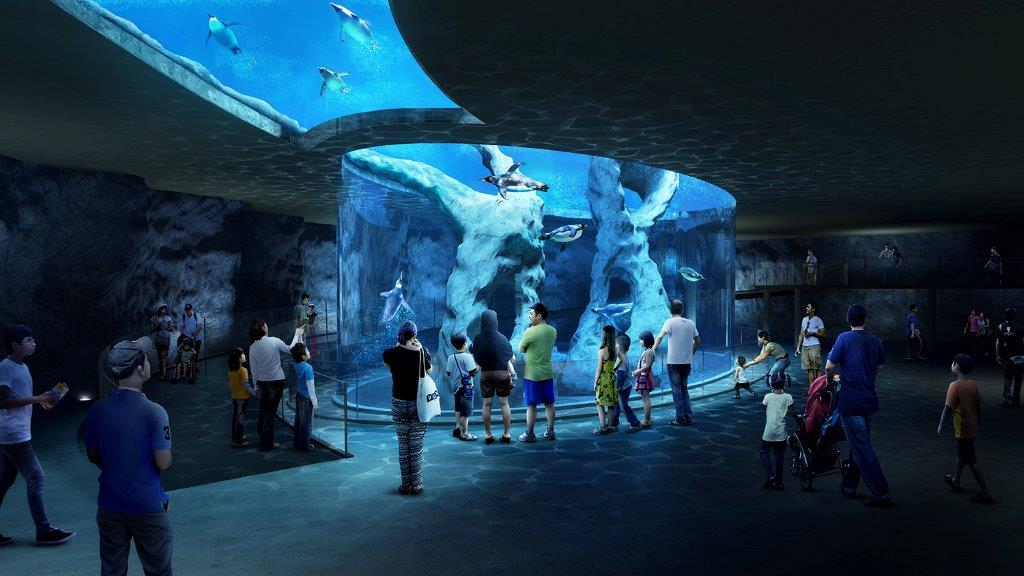 One of the key attractions at the new Bird Park will be an underwater and 'overwater' habitat for sub-Antarctic penguins.