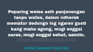 Kata kata semoga lekas sembuh Bahasa Jawa