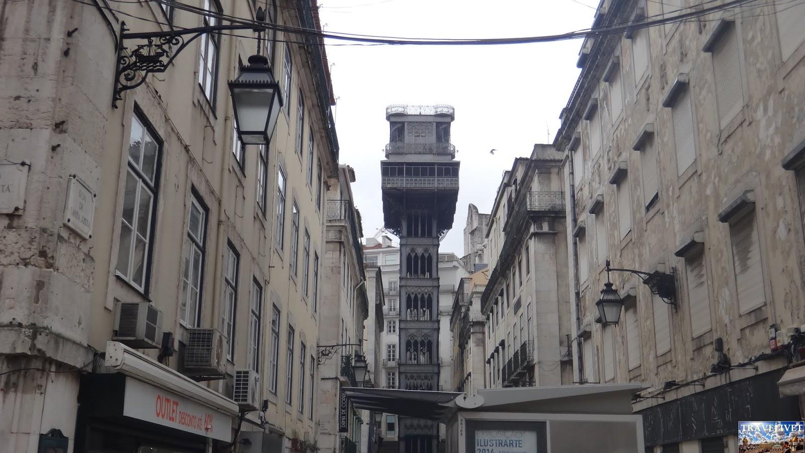 Portugal Lisbonne Lisboa Elevador Santa Justa.