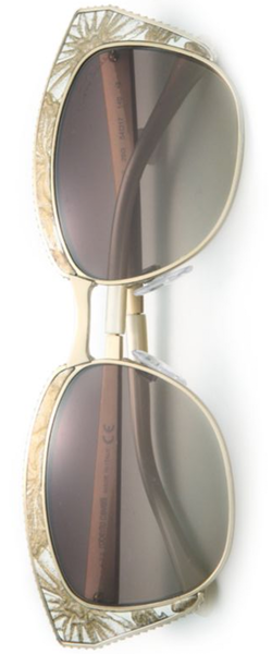 Roberto Cavalli 54MM Printed Leather & Metal Cat's-Eye Sunglasses