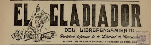 Cabecera de El Gladiador del Librepensamiento