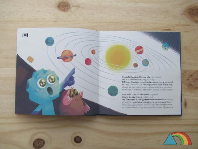 Interior del libro Bòlid, d'excursió pels planetes!