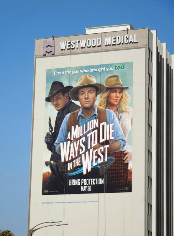 A Million Ways to Die in the West giant billboard