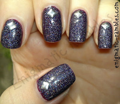 wedding-guest-holo-holographic-studded-4mm-studs-barry-m-blackberry-blue-plum-kleancolor-chrome-silver
