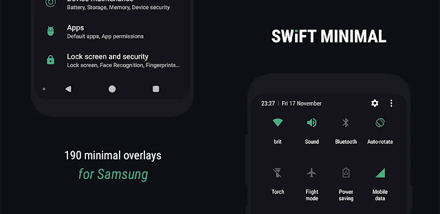 تحميل تطبيق Swift Minimal for Samsung - Substratum Theme