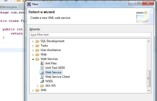 Create Web Service in Java Using Apache Axis2 and Eclipse