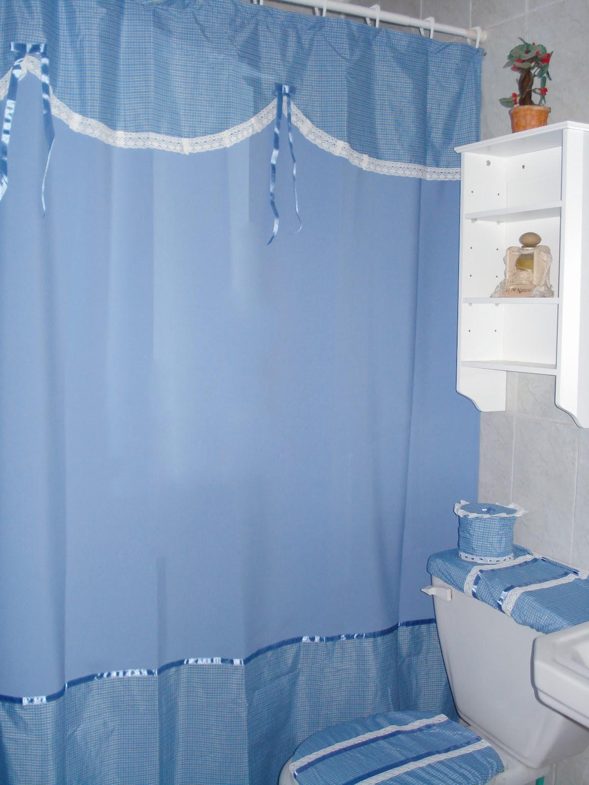 Cortinas de ba o con dise o for Modelos de cortinas de bano en tela