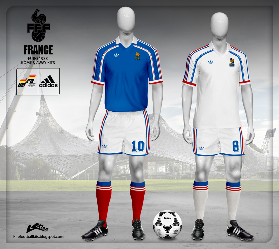 Kire Football Kits France Euro 1988 Qualifying