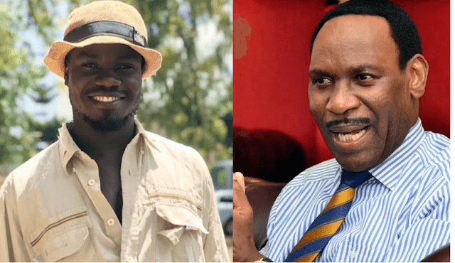 Comedian Mulamwah and  KFCB boss Ezekiel Mutua photo