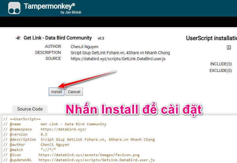 UserScript installation