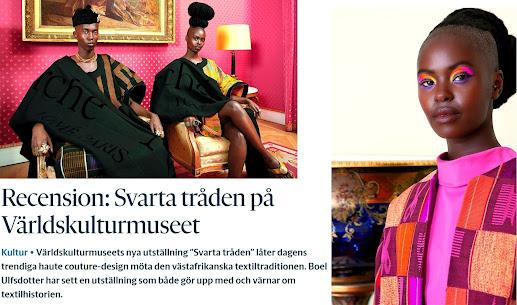 Svarta tråden en utställning om afrikansk mode