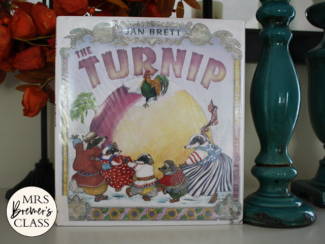 The Turnip Jan Brett book study Common Core companion activities unit K-1