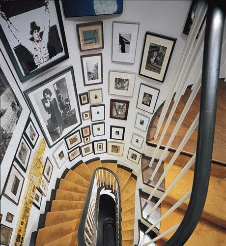 50 Creative Staircase Wall decorating ideas, art frames ... on Creative Staircase Wall Decorating Ideas  id=30594