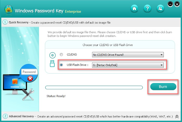download password reset disk