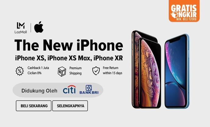 Lazada - Promo The New iPhone XS , iPhone XS Max & iPhone XR