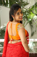 Lasya Cute Beauty in Saree Backless Choli at her Interview ~  Exclusive 061.JPG